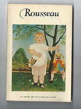 """""""Rousseau"""" (Henri dit le douanier) Livre de poche avec photos couleur (1956)"""