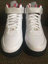 Nike Air Jordan AJF 5 FUSION Retro 3/15/08 WHITE/VARSITY RED/BLACK Size 9 DS