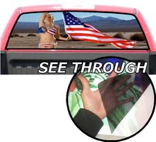 P391 American Flag Mode Rear Window Tint Graphic Decal Wrap Back Pickup Graphics