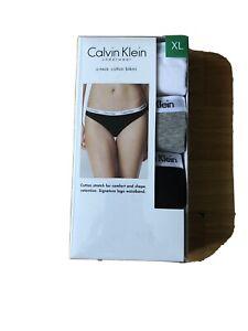CK CALVIN KLEIN Women's Cotton Bikini Underwear Lingerie 3 Pack XLARGE