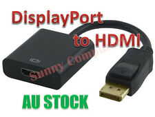 Displayport Display Port DP Male To HDMI Female HDTV Adapter Converter Cable AU