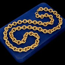 "Antique Vintage Art Deco Gold Filled GF Rolo Link Heavy 29.0"" L Chain Necklace"