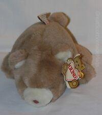 "Vintage 1980 Gund Soft Snuff  Brown Cocoa Teddy Bear  Plush Toy 7"" Tall"