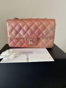 Chanel 21S Ombré Rose Gold Rectangle Mini -LGHW