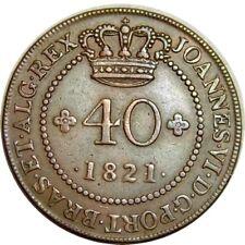 elf Saint Thomas and Prince Portuguese 40 Reis 1821 Bahia Mint