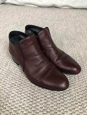 Celine Philo Era Boots Burgundy Flat Size 39
