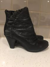 Bresley Leather Ankle Boots Dazzle New Black Size 39