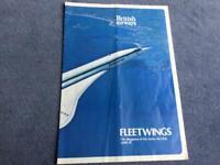 British Airways Concorde Fleetwings Magazine Junior Jet Club June 1976 Rare