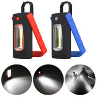 2 in 1 COB LED Magnetic Camping Inspection Work Light Lamp Flashlight with Hook
