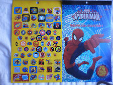 MARVEL ULTIMATE SPIDER-MAN - STICKER PAD 4 Sheets Over 270 Stickers!  BRAND NEW