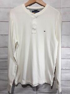 Tommy Hilfiger Thermal Long Sleeve T-Shirt Men L Waffle 921G