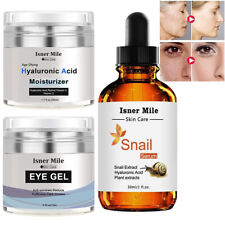 Anti-aging Gift-Eye Moisturizer Gel+ Hyaluronic Acid Cream+Snail Repair Serum