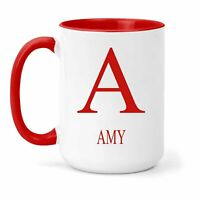 Amy Name & Initial Mug - Gift in Many Colours For Tea or Coffee