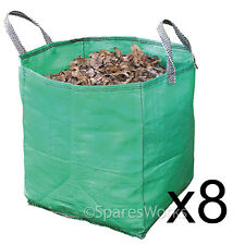 8 x Large Garden Waste Recycling Tip Bags Heavy Duty Non Tear Woven Plastic Sack