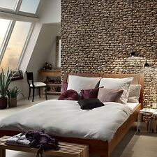 3D REALISTIC NATURAL DRY STONE WALL BRICK FEATURE WALLPAPER A.S.CREATION 9079-12