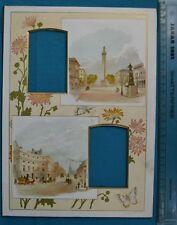 Antique Victorian Colour Printed Album Photo Mount Waterloo Place Oxford Circus