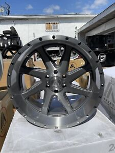 22x10 ASANTI AB814 OFFROAD WHEELS/TIRES CHEVY F150 PACKAGE DEALS FUEL HOSTILE