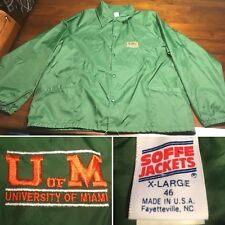 Vtg University of Miami Hurricanes The U Windbreaker Jacket Soffe Xl UofM Usa