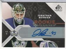 JONATHAN BERNIER 2007-08 UD SP GAME USED ROOKIE EXCLUSIVES AUTOGRAPH 100 MADE