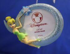 "Tinker Bell Photo Frame 3"" Resin Christmas Ornament Disney Store Peter Pan"