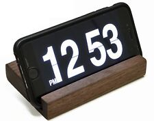 Wood iPhone Stand/Docking/Charging Station. Handcrafted Walnut Wood. (AS-PS-01)