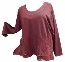 Lagenlook Damenblusen, - tops & -shirts mit Rundhals-Ausschnitt in Größe XL