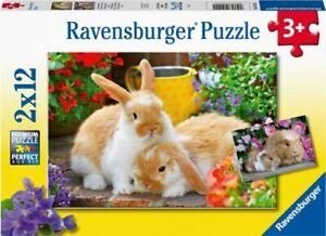 Ravensburger - Guinea Pigs & Bunnies 2x12 pieces Jigsaw Puzzles 3+