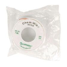 Large 7.5  Mtr x 2 mm Reel, Solder Sucker Braid,  Desoldering Mop Wick Chem-Wik