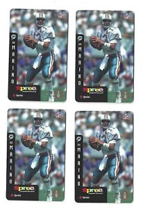 (4) DAN MARINO *  DOLPHINS 1997 Sprint / Spree Prepaid Phone Card * Unscratched
