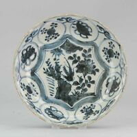 20.2cm CA 1600 Chinese Porcelain Kraak Dish Grasshopper Rinaldi Antique Ming