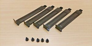 5 PACK - Black Steel Computer Case Dust Filter Blanking Plate Cover with Screws