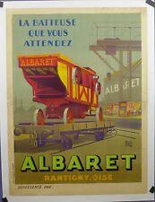 Affiche Ancienne  Lithographique Machine Agricole ALBARET oise Par ALO entoile