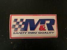 M&R Safety decals stickers nascar indy car race nhra hot rod toolbox motorcycle