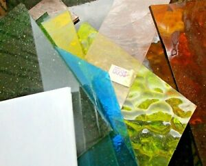 Stained Glass Scrap Pieces 5lb Box Mixed Color/ Texture/ Mosaics/Arts/Crafts US
