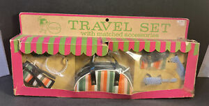 """Vintage Dolly's Own Travel Set for 16"""" Doll Matched Accessories Sunglasses Miner"""