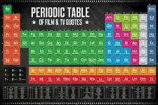 Periodic Table of Film & TV Quotes - Maxi Poster 91.5cm x 61cm new and sealed