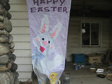 HAPPY EASTER BUNNY AND CHICK VINYL POLE BANNER + ADORABLE BISQUE BUNNIES