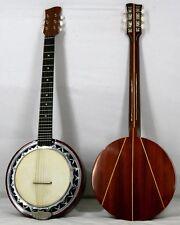 Musikalia Banjo Chitarra, doppia cassa in alluminio, fondo in padouk con intarsi