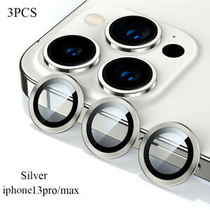 For iPhone 13/13mini/13Pro/13 Pro Max Metal Ring Camera Lens Protect Silver Gold