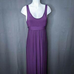 Rachel Pally Womens Maternity Friendly Tank Dress Medium Purple Jersey Knit Long