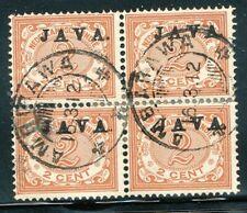 NED.INDIE, JAVA HOOGSTAAND OP 2 CT.NR.65a IN BLOK VAN 4, 'AMBARAWA 16.3.12' S070