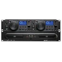 Gemini CDX-2250i Rack Mount DJ Pro Audio Dual Multimedia CD Player with USB