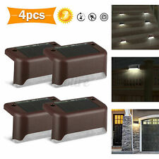 New listing 4Pack Solar Led Deck Light Outdoor Path Garden Stairs Step Fence Lighting Lamp