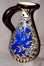 VINTAGE HISPANO MORESQUE SPANISH LUSTER WARE JUG EWER LION ISLAMIC COPPER LUSTRE