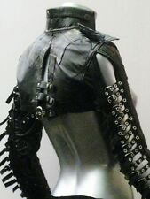 Italiano Couture Woman Black Leather Bolero Post-apocalyptic Rock Goth XS - M
