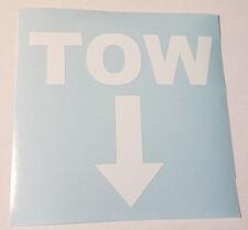Tow Arrow White Decal,Car,Racing,Vinyl,Race,Window,Door,Laptop,iPad,Sticker