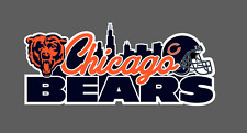 Chicago Bears Bumper Window Vinyl Decal 7x3