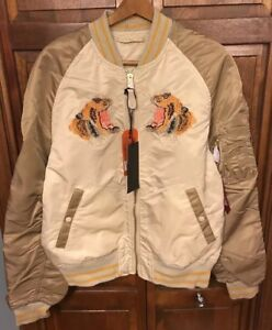 Alpha Industries MA-1 Tiger Souvenir Jacket Reversible Men XL MJS47040C1