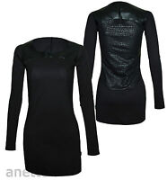 ADIDAS ORIGINALS Long Line Ladies Black Top or Mini Dress Snake Pattern BNWT