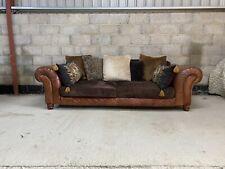 Tetrad Degas Grand Sofa in Aged Leather & Fabric